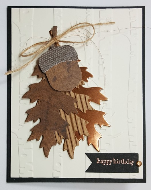leaves card front