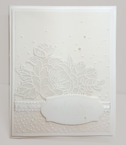 white card front