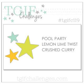 #TGIFC119 Color Combo Pool Party Lemon Lime Twist Crushed Curry